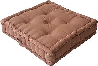Enjoy Home - Cojín de Suelo, algodón, 50 x 50 x 10 cm, Color Camel