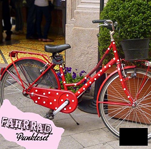 ilka parey wandtattoo-welt Fahrradaufkleber Set Punkte dots groß Fahrradsticker Aufkleber Fahrrad Design M681 - ausgewählte Farbe: *Schwarz*