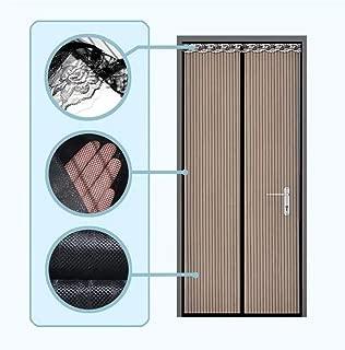 "Magnetic Screen Door,Fits Doors Up to 38""x 82"" Durable Fiberglass Mesh Curtain Magnetic Closure (Brown with Sopraporta)"
