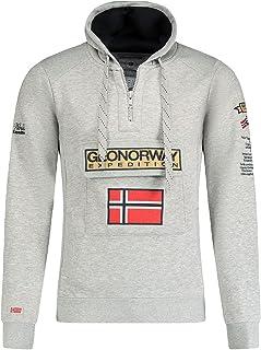GEO NORWAY GYMCLASS Men – Sudadera con Capucha de Bolsillo para Hombre – Sudadera con Logotipo de Hombre – Sudadera con Ca...