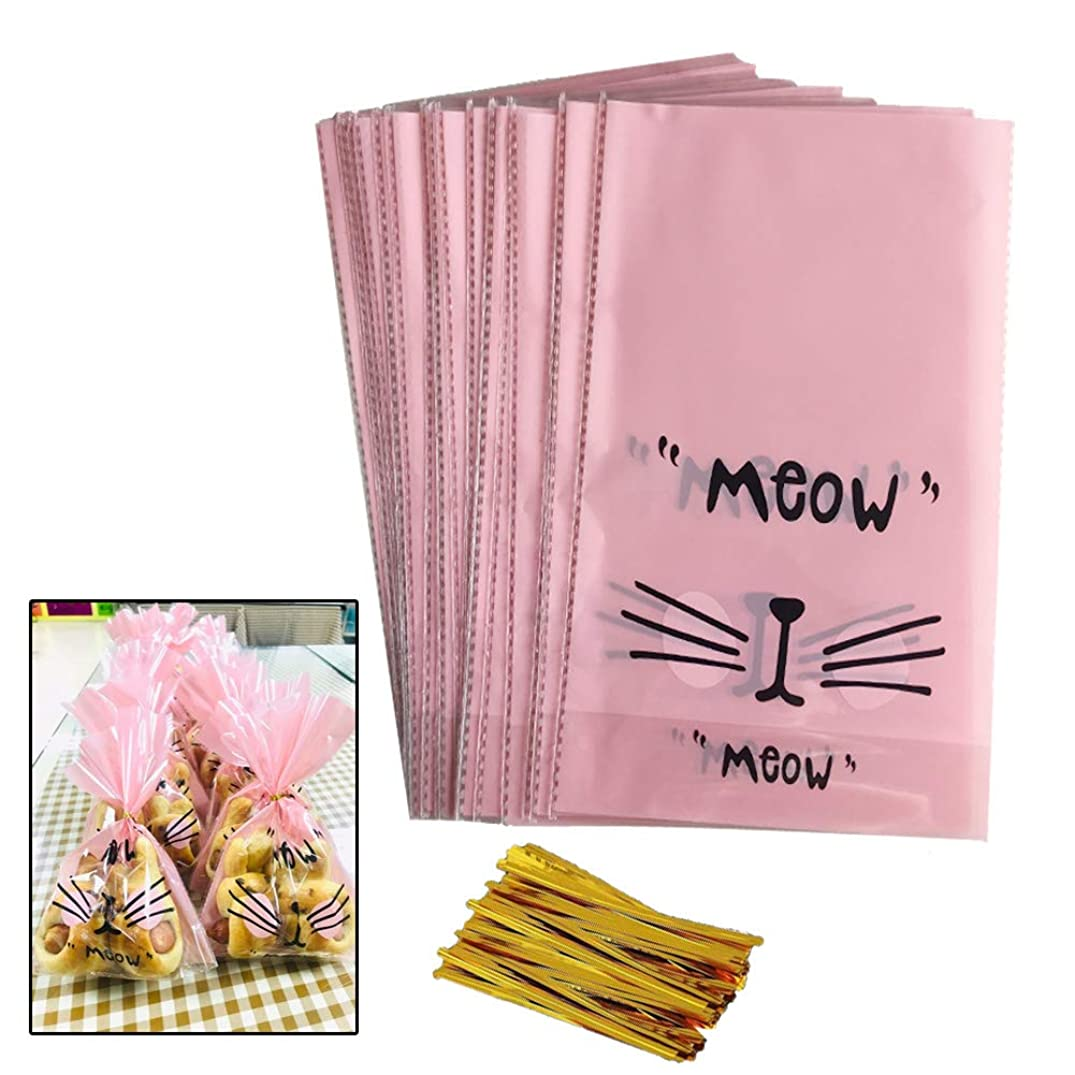 50pcs Clear Treat Bags/Cellophane Bags 9.3