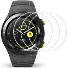 AFUNTA Screen Protector Compatible Watch 2, 3 Pack Tempered Glass Protective Films Anti-Scratch High Definition Cover for Smartwatch