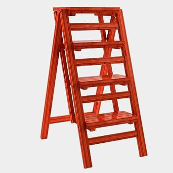 WCS Escalera multifunción Taburete Hogar Madera maciza IKEA Niños Silla plegable Provincia Espacio Escalera de cuatro pasos de doble uso Ascendente Escalera Color 42 × 67 × 92 cm: Amazon.es: Bricolaje y herramientas