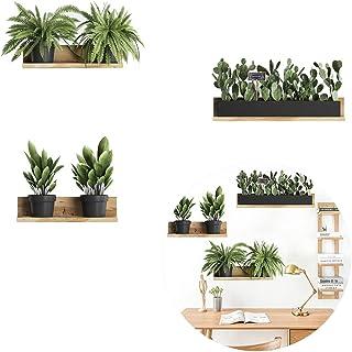 Stickers Muraux Plante en Pot, Autocollant Mural Plante Verte, DIY Nature Papier Peint Sticker Mural Decoration Pour Chamb...