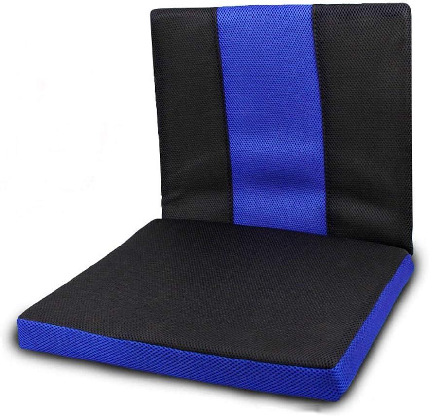 NACHEN Wheelchair Cushion Cojín de Silla de Ruedas con Respaldo Antiescaras Cojines de Tela Oxford Confort Transpirable Práctico Resistente a la Suciedad