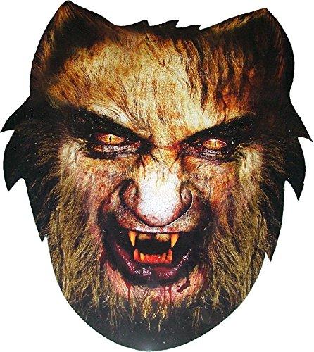 Halloween - Loup-Garou (Werewolf) - Effrayant - Masque de Visage Fait en Carte Rigide