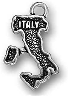 Corinna-Maria 925 Sterling Silver Map of Italy Charm Italian