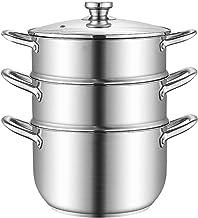 Roestvrijstalen Stoomboot, Stoomboot Pot Voedsel Steamer Multi-Layer Boiler Pot Met Handvatten Aan Beide Zijden, Kookgerei...