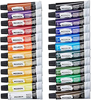MEEDEN Watercolor Paint Set of 24 Vibrant Colors in Tubes 24 x 12ml  Rich Pigments Vibrant Non Toxic for Students Beginners Hobby Painters and More