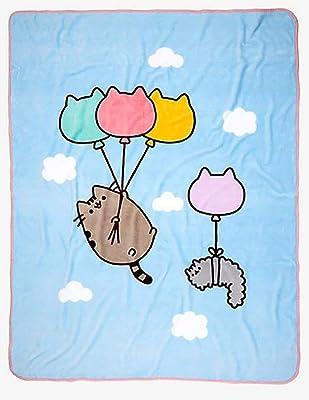 Pusheen Cat Balloons Blanket Throw