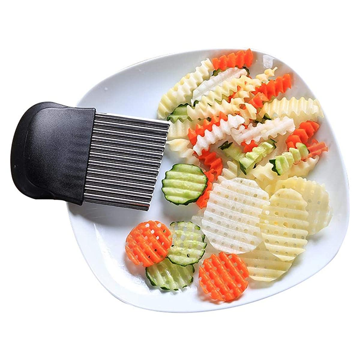 Weemoment Mandoline Slicer Manual Stainless Steel Blade Vegetable Onion Potato Slicer Food Kitchen Tools