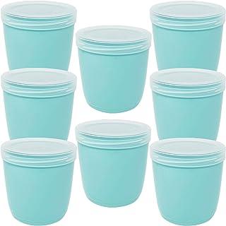 Codil Lot de 8 boîtes de rangement, récipients de cuisine, récipients réutilisables, récipients en plastique, bol, pour co...