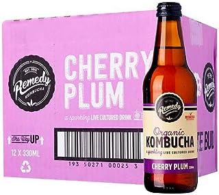 Remedy Organic Kombucha Cherry Plum, 330 ml (Pack of 12)
