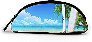 Pencil Bag Beach Surfboard Bikini Pencil Bag Pen Case Storage High Bag Pouch Holder School Cosmetic Bag 3 x 8 Inch