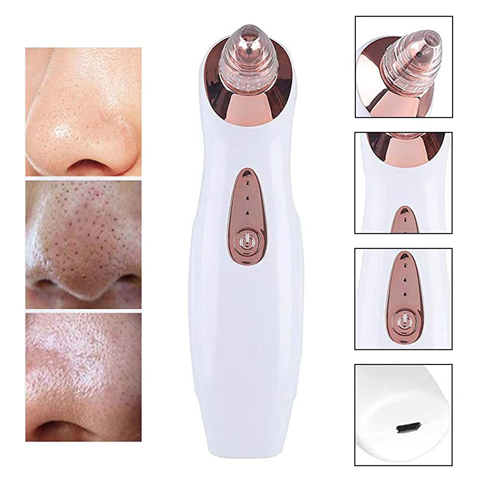 SUN RDPP Blackhead Remover Vacuum Cup Facial Pore Cleaner Electric Acne Comedone Extractor Set with 4 Head Lady Men's Facial Nose
