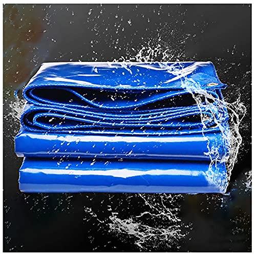 Lonas de Impermeable de PVC 2x2m Lonas de Protección Lona de lluvia con Ojales 550g/m² Azul Resistente y Duradera Resistente al nieve para cubrir Piscina Coche Pérgola Camione(Size:2x7m6x23FT,Color:B)