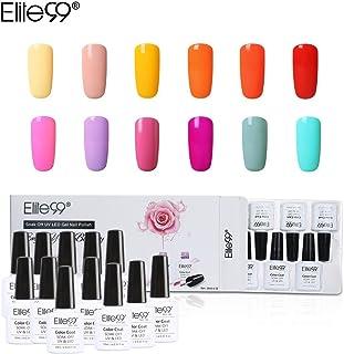 Elite99 Esmalte Semipermanente UV LED 12pcs Kit Uñas de Gel