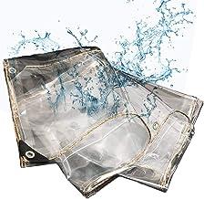 99% Transparant Buiten zacht PVC Regenhoes, waterdicht dekzeil, serrefilm, zware Luifel 0,3 mm Dikte,2mX2m