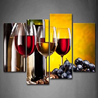 Grape Wine With Cup Wall Art Painting The Picture Print On Canvas Food Pictures For Home Decor Decoration Gift