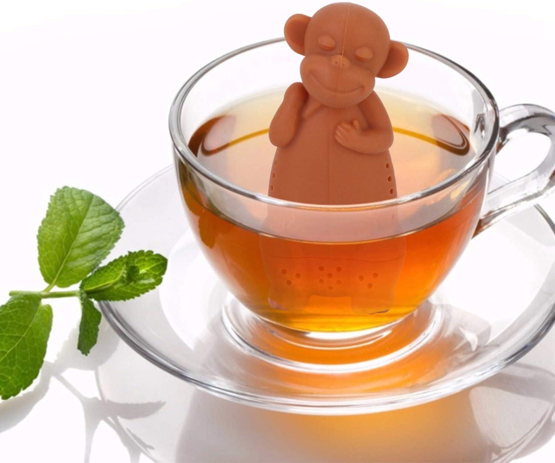 2pcs Food-Grade Cute Tea Filter Loo Max 76% OFF Monkey Silicone Soldering Cartoon