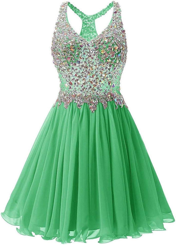 Bridesmaid Dress Women's OffTheShoulder Sleeveless Sequin Mesh Short Sleeveless Dress Evening Dress for Formal Prom (color   Green, Size   US18)