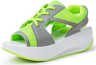 Shape Ups Confortable Peep Toe Cuña Sandalias Plataforma Mujer Zapatillas Zapatos de cordones Sports Shoes