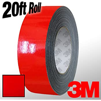 1 x 20ft VViViD 3M 1080 White Gloss Vinyl Detailing Wrap Pinstriping Tape 20ft Roll