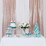 YZEO Pailletten-Stoff, Hochzeit Vorhang Fotografie
