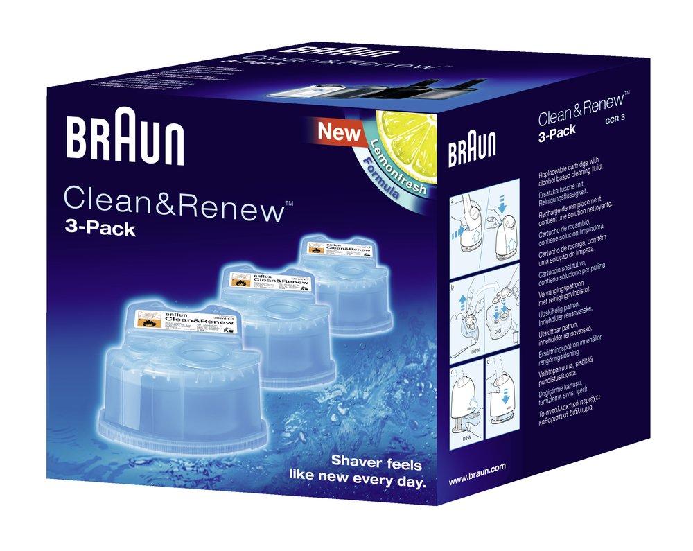 Braun Clean & Renew Cartridge Lot de 3