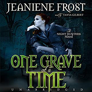One Grave at a Time     Night Huntress, Book 6              Written by:                                                                                                                                 Jeaniene Frost                               Narrated by:                                                                                                                                 Tavia Gilbert                      Length: 9 hrs and 6 mins     4 ratings     Overall 4.5