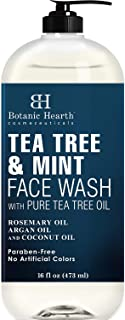 BOTANIC HEARTH Tea Tree Face Wash with Mint - Acne Fighting, Therapeutic, Hydrating Liquid Face Soap with Pure Tea Tree Oi...