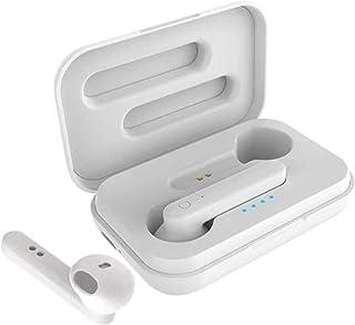 TISHITA Mini TWS Bluetooth-headset headset i öra hörlurar med mikrofon för iPhone – vit