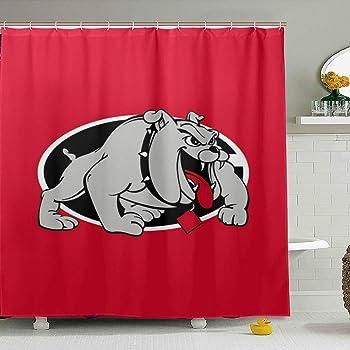 NEW BEST Uga-Georgia-Bulldogs-Symbol Waterproof Shower Curtain Exclusive Design