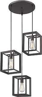 Emliviar 3-Light Pendant Light, Modern Cluster Hanging Lights for Kitchen, Oil Rubbed Bronze Finish, 20061D-3 ORB
