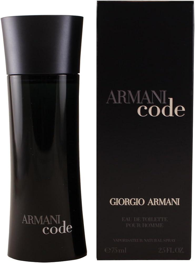 Giorgio armani code eau de toilette, uomo, 75 ml 10016520