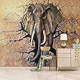 Murales Papel Pintado 200X150cm Elefante Roto Fotos Papeles De Pared 3D Sala De Estar Dormitorio Decoración Foto Papel De Pared Mural
