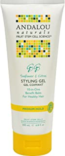 Andalou Naturals Healthy Shine Styling Gel, Sunflower Citrus 6.8 oz (Pack of 3)