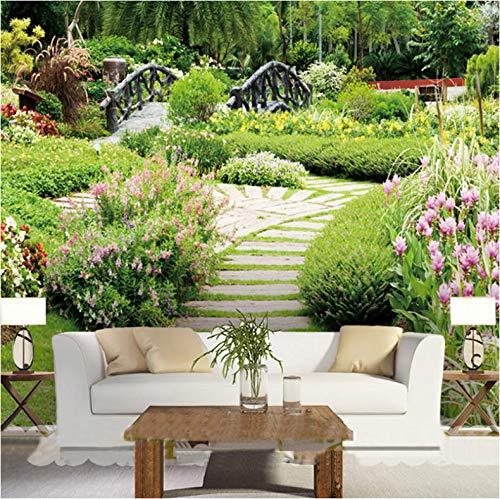 Benutzerdefinierte jeder Größe 3D Wallpaper Park Blumen und Bäume Natur Landschaft Pastorale Tapetenrolle Wohnzimmer Schlafzimmer
