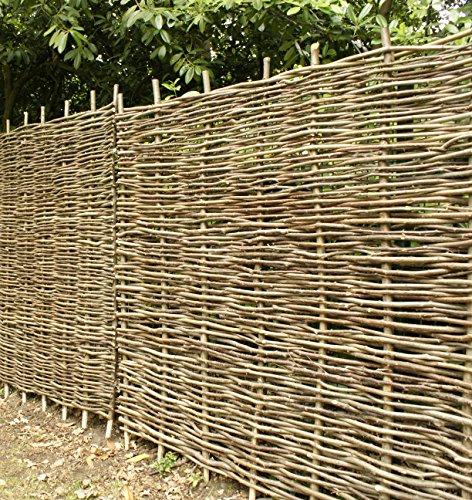 Papillon Premium Hazel Hurdle Woven Wattle Garden Fence Panel 1.8m x 1.2m (6ft x 4ft)