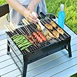 HaRvic Style Folding & Portable Outdoor Barbeque Grill Toaster Charcoal BBQ Grill Oven