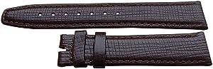 Autentico cinturino orologio Omega 18 millimetri Omega Vitello Marrone