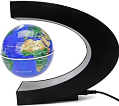 Senders Floating Globe with LED Lights C Shape Magnetic Levitation Floating Globe World..