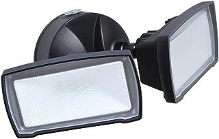 Good Earth Lighting LED Security Flood Light, 2100 Lumens, 5000K, Dusk to Dawn Flood Light, Manual Override, 50,000 Hours, Direct Wire, Weatherproof, ETL & Energy Star Certified, Bronze Finish