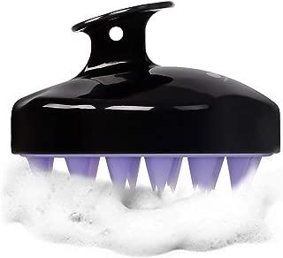 HEETA Scalp Massager, Updated Hair Shampoo Brush for Wet and Dry Hair, Scalp Massage Brush for Women, Men and Pet (Black)