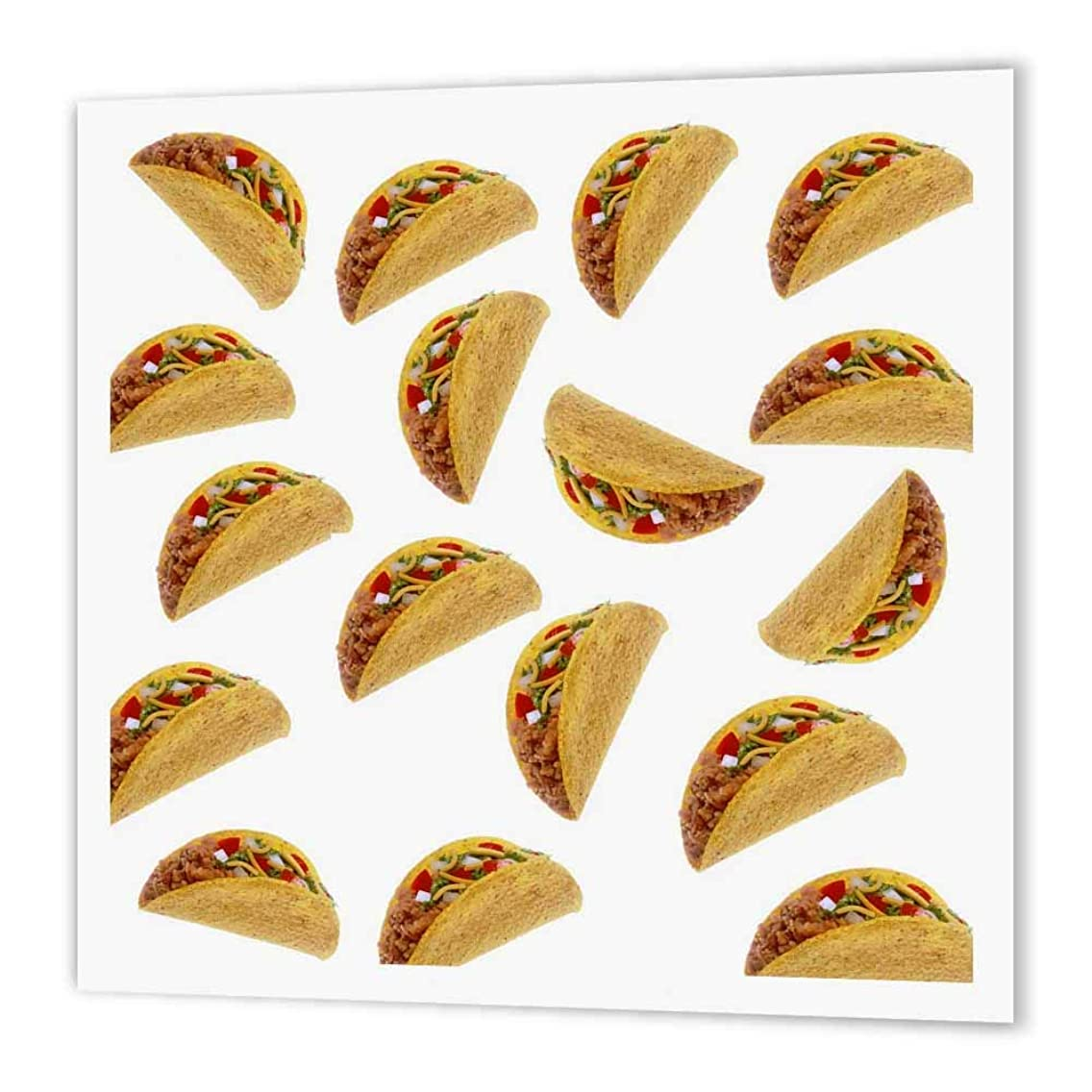 3dRose Print of Tacos Toss Repeat Pattern - Iron on Heat Transfer, 8 by 8-Inch, for White Material (ht_221648_1)