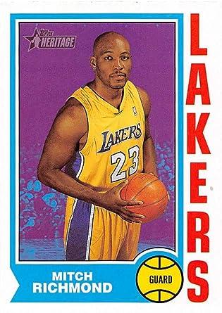 Amazon.com: 2001-02 Topps Heritage Basketball #217 Mitch Richmond ...