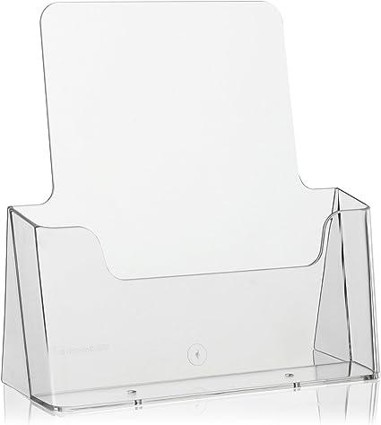 Transparent, DIN Lang 10x Tisch-Prospektst/änder Flyerst/änder//Prospekthalter von VITAdisplays DL