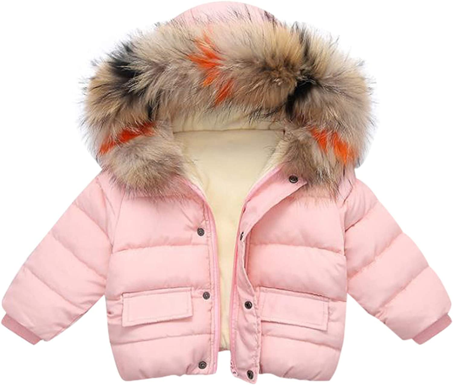 Winter Child Kids Solid Color Hoodie Zipper Coats Keep Warm Jacket Clothes Clothes for Boys and Girls Baby Coat