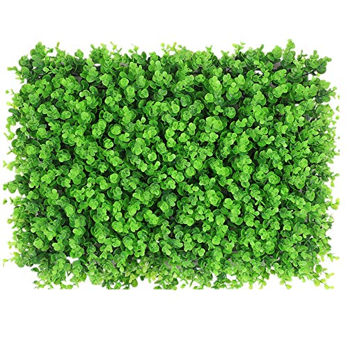 DLSMB Artificial Hedges Panels Artificial Boxwood Panels Topiary Hedge Plants For Indoor Outdoor Balcony Garden Fence Greenery Wall Decoration 12 Pieces for Home Garden Backyard Wedding