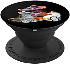 Rat Rod Drag Racing Old School Cars Rat on top Hot Rod Gift PopSockets Grip and Stand for Phones and Tablets